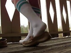 Foot Fetish, Stockings, Teen