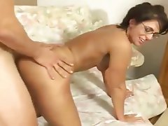 Blowjob, Brunette, Cumshot, Old and Young, Pornstar