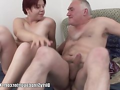 Big Boobs, Blowjob, Old and Young, Redhead, Teen