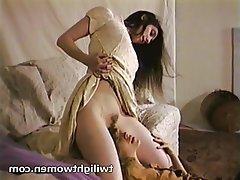 Brunette, Lesbian, Masturbation, Orgasm