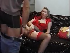 Blonde, British, MILF, Old and Young, Stockings