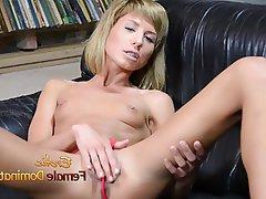 Dildo, German, Masturbation, Small Tits