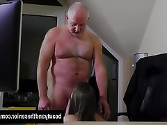 Blowjob, Brunette, Facial, Hardcore, Old and Young