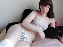 Amateur, Brunette, Hairy, Masturbation, Webcam
