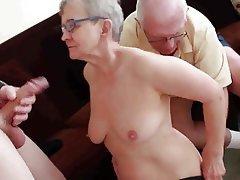 Blowjob, Facial, Granny, Group Sex