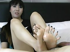 Amateur, Foot Fetish, Footjob, Asian