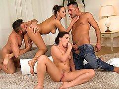 Czech, Teen, Foursome, Foursome