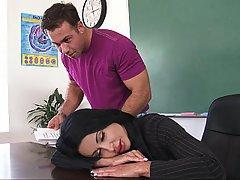 Sleeping, Teacher, College, Coed
