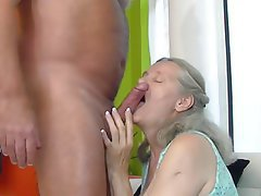 Granny, Dildo, Big Tits, Granny