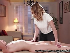 MILF, Old and Young, Massage, Spanking, Cunnilingus