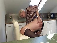 Blowjob, Hairy, Granny