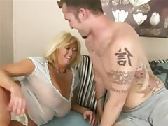 Big Boobs, Blonde, Blowjob, Cumshot, Old and Young