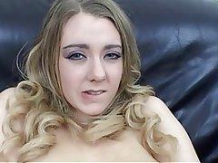 Big Boobs, Blonde, British, Masturbation, Stockings
