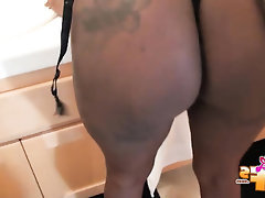 Babe, Big Ass, Ebony, Stockings