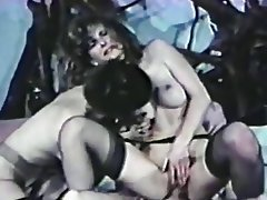 Cunnilingus, Stockings, Threesome, Vintage