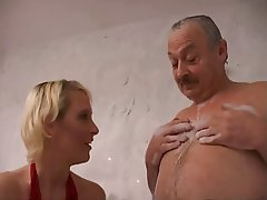 Skinny, Blowjob, Blonde, Russian, Old and Young