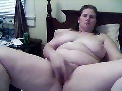 BBW, Masturbation, Webcam
