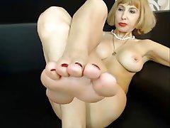 Amateur, Femdom, Foot Fetish, Webcam