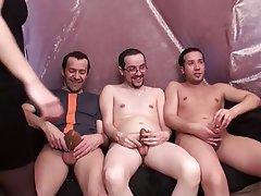 Amateur, Blowjob, Gangbang, Group Sex, Stockings