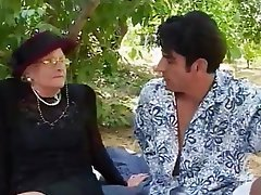 Facial, Granny, Old and Young, Outdoor