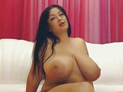 Big Butts, Big Boobs, Brunette, Webcam